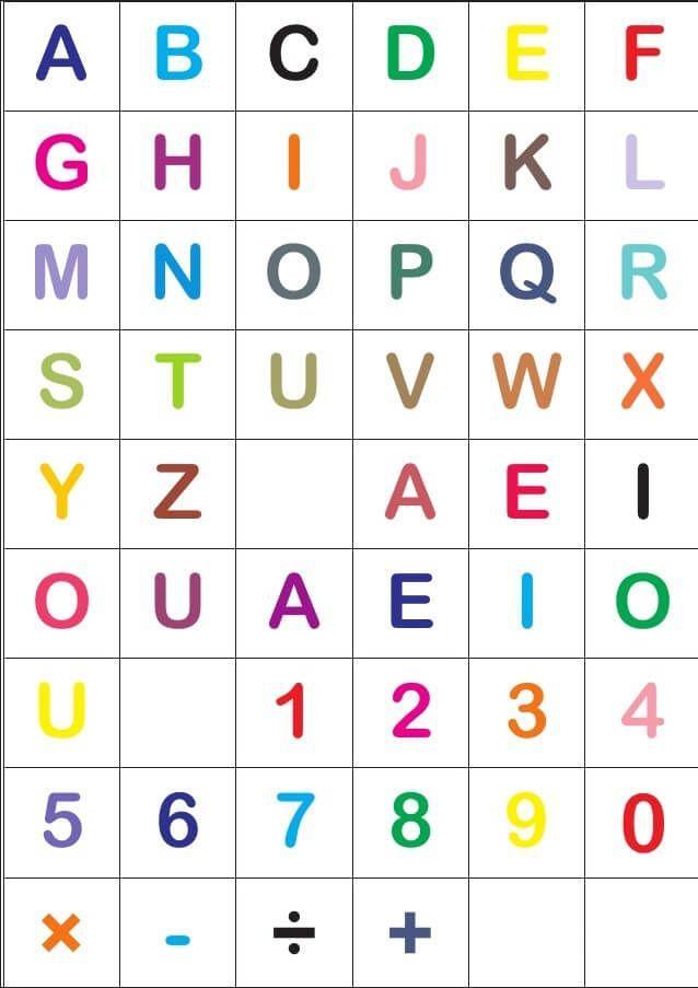 Alfabeto Para Imprimir Colorido 2 Atividades Alfabetizacao E
