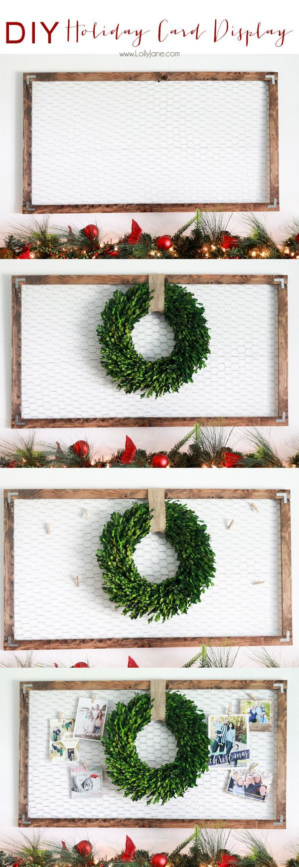 Ste-by-step guide to an easy and impactful #DIY Christmas & Holiday Card Display