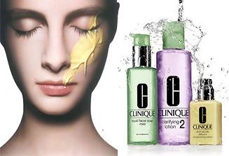 In drie stappen met drie precies op uw huid afgestemde producten uw huid verzorgen met de 3 stappen verzorgingslijn van Clinique.