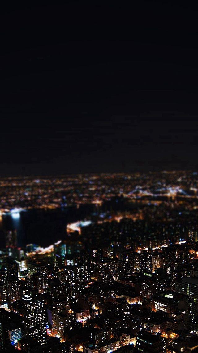 Dark Night City Building Skyview Iphone 5s Wallpaper