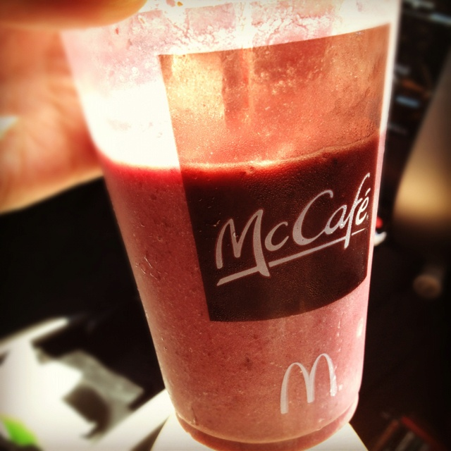 Smoothie from McDonald's mmmmm