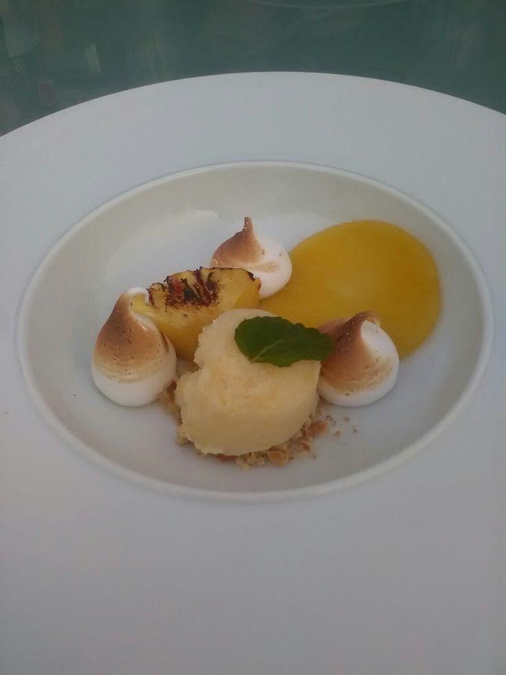 #ananas gemarineerd in #steranijs #ananasijs #BBQ  #Meringue