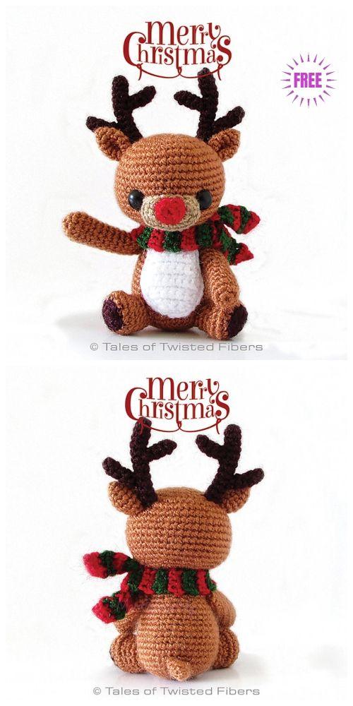 Crochet Rudy The Reindeer Amigurumi Free Pattern   Weihnacht ...
