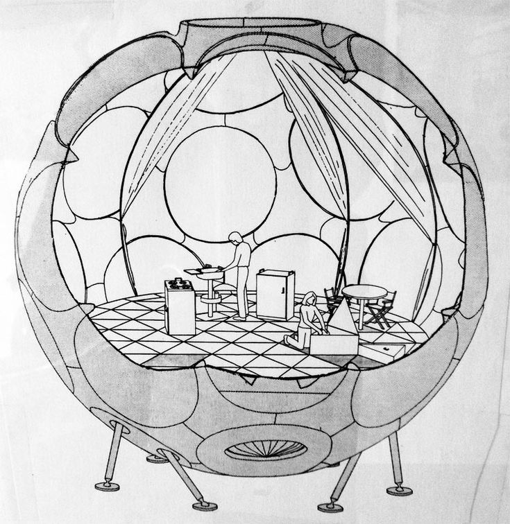 Buckminster Fuller's fly-eye dome. Via the blog of Architect's Newspaper http://blog.archpaper.com/wordpress/archives/28600