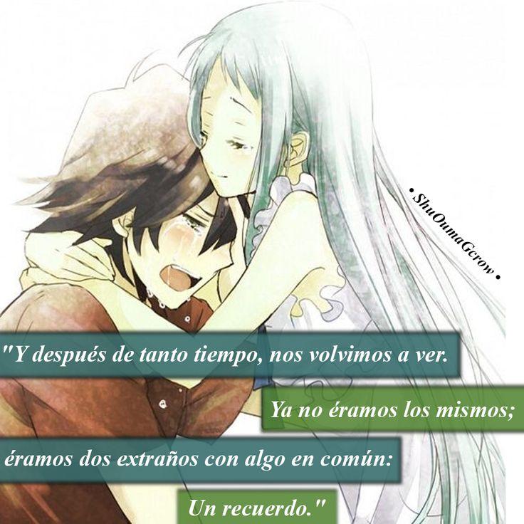 Después de tanto tiempo. #ShuOumaGcrow #Anime #Frases_anime #frases