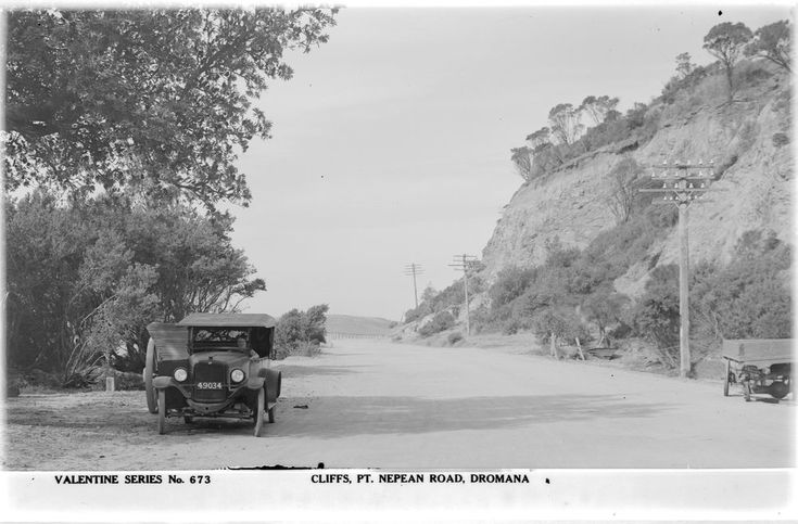 The cliffs between Rosebud and Dromana in the 1920s