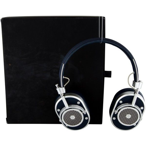 Pre-owned Master & Dynamic MH40 Over-Ear Headphones ($325) ❤ liked on Polyvore featuring men's fashion, men's accessories, men's tech accessories and blue