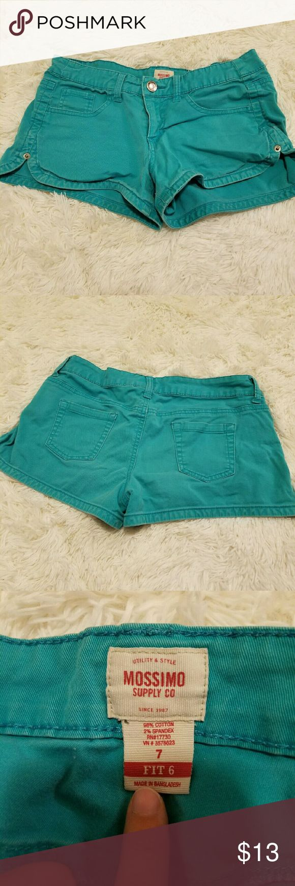 Teal Shorts Cute little Teal Shorts :) perfect for the summer Mossimo Supply Co Shorts Jean Shorts