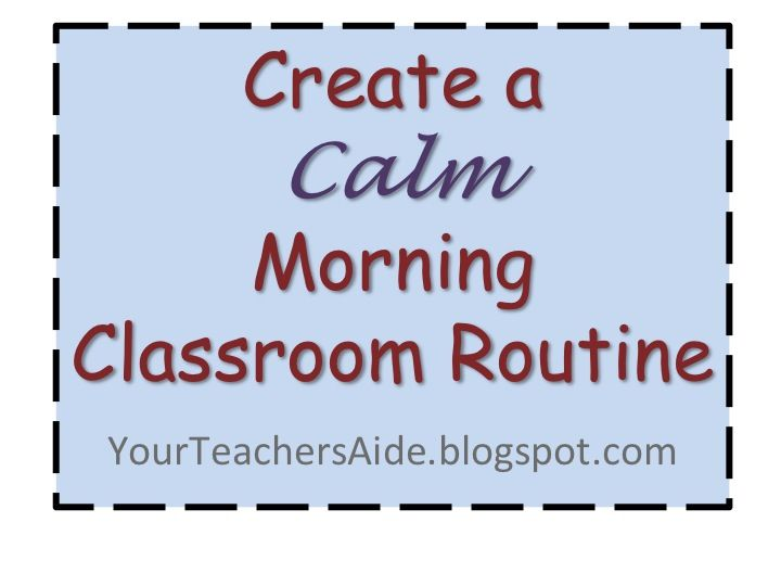 Create a Calm Classroom Routine. Such great ideas- this is something easy I can do! Pin now, save for later!