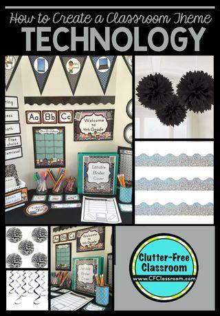 Technology Themed Classroom - Ideas & Printable Classroom Decorations