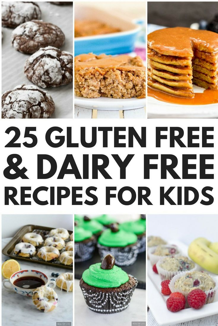 Looking for EASY gluten free and dairy free recipes for kids? Look no further! We've rounded up 24 allergy-friendly breakfast, lunch, dinner, dessert, and healthy snack recipes your little ones will love. From Zucchini Banana Oatmeal Pancakes to Paleo Piz
