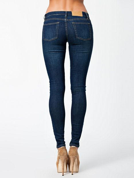 Slim Credit Dark Blue - Cheap Monday - Denim Blå - Jeans - Tøj - Kvinde…