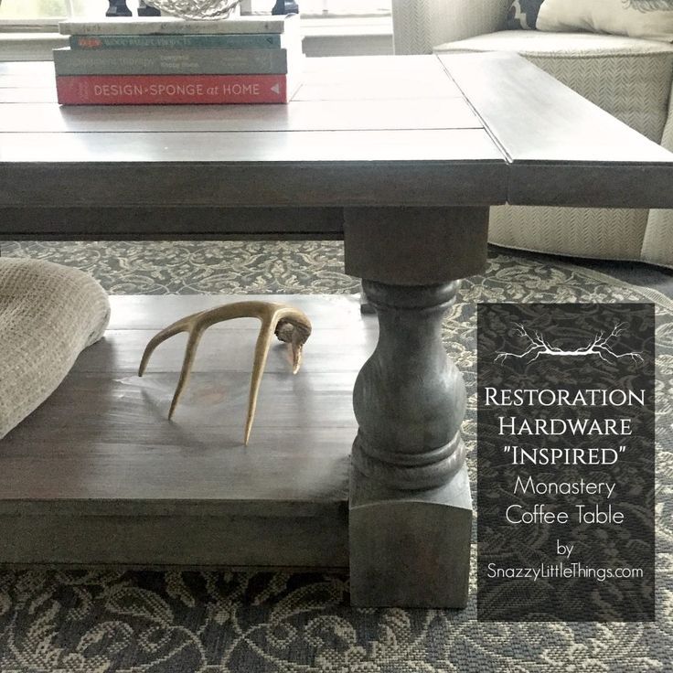 Industrial Grey Driftwood Open Coffee Table: 1000+ Images About Restoration Hardware. DIY Knockoff On