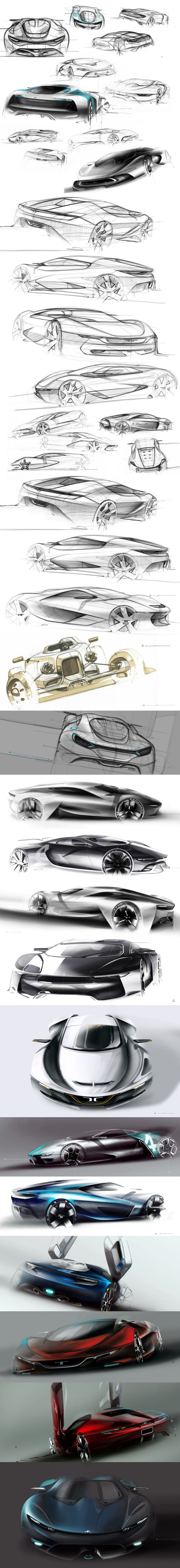 Automotive Sketching and Rendering/ Visual Layout