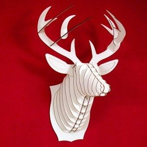 Discovered by South Shore ♥ Bucky  Large Deer Trophy  White or Brown by CardboardSafari, $55.00