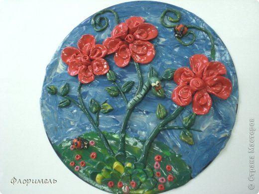 Картина панно рисунок Аппликация из пластилина + обратная Лепка Детские картины из пластилина Пластилин фото 3
