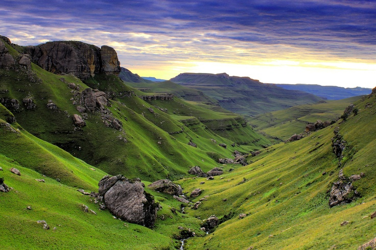 Mountain Sunrise at the Drakensberg - South Africa by Alan Foster, via 500px
