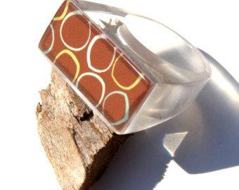 Anelli cristallo ICE resina foglia argento di ResinHeavenUSA