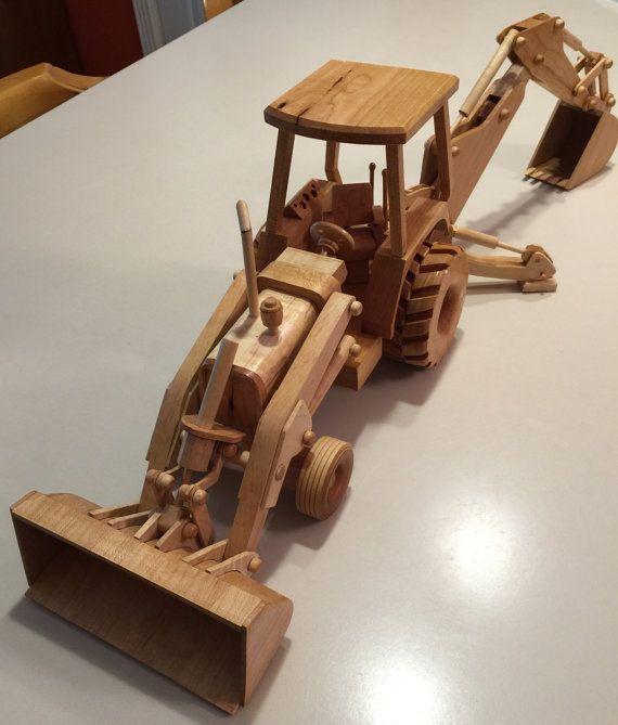 Modelo madera retroexcavadora Tractor Ideal para usar como un