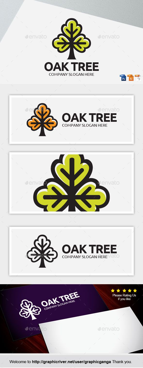 Online color invert picture - Oak Tree