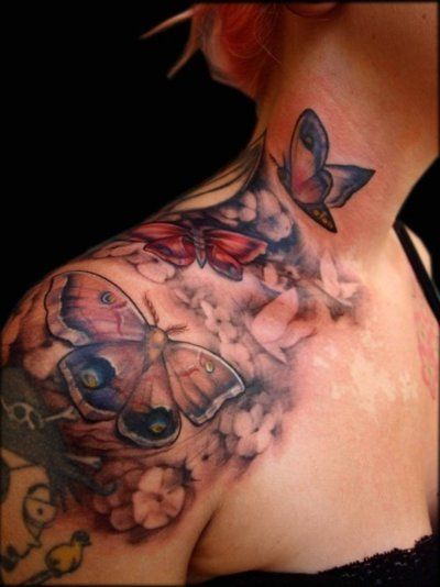 I may not be a butterfly tattoo guy but this is pretty dang sweet.