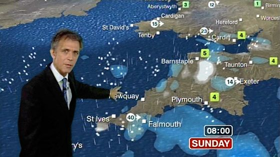 Dan Corbett - BBC Weather forecaster until May 2011. Born in the UK, Daniel's family moved to the USA in 1974. He began his broadcasting career in 1995 at WCFT-TV in Tuscaloosa, Alabama and later moved to KWTX-TV in Waco, Texas. He joined the BBC Weather Centre in December 1997 and became a BBC TV weather forecaster from December 1998 until 2000 and again from 2004 including appearances on BBC News 24 and BBC TV's 'Breakfast'. He is now in New Zealand.