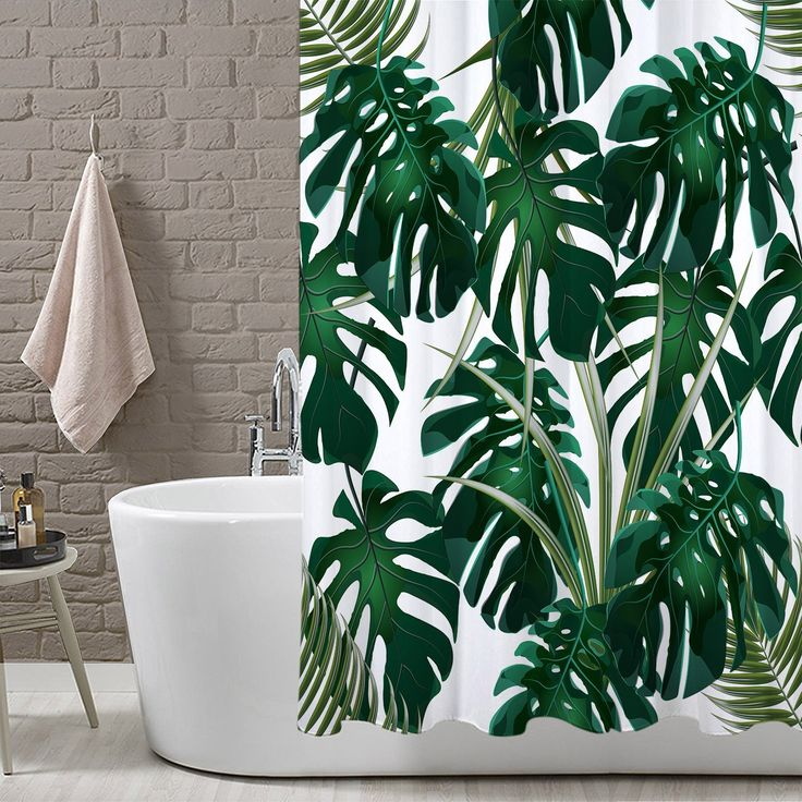 Apartment Therapy Stylish Shower Curtain Mostera Pattern Urban