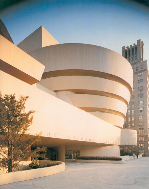 Guggenheim Museum by Frank Lloyd Wright architect, at New York, New York, 1956 to 1959.
