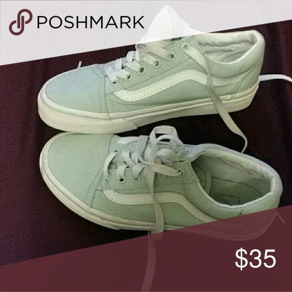 mint green vans new! great condition (only worn 2x) Vans Shoes Sneakers