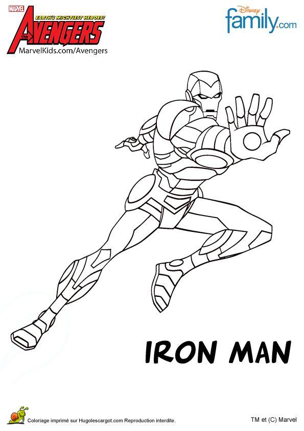 a colorier iron man avec ses super armures qui sapprte combattre