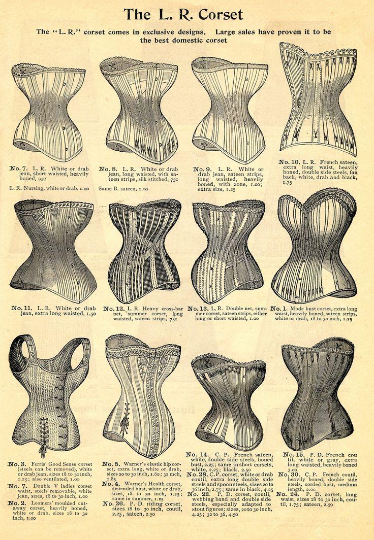 Printable :: Vintage corsets ad | Love vintage ads? Follow http://www.pinterest.com/thevioletvixen/vintage-advertising/