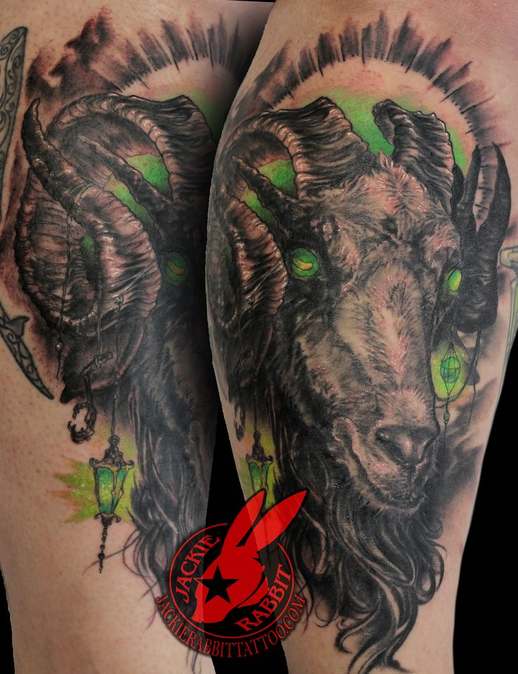 Evil goat tattoo - photo#45