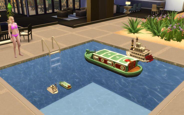 Description : Ajoutez un peu de fantaisie à vos piscines, fontaines, lacs et autres points d'eau grâce à ces jouets flottants en forme de bateaux. Plusieurs formats sont disponibles pour chaque modèle. http://www.jeuxvideopc.com/jeux/les-sims-4/mods/57439-bateaux-flotteurs