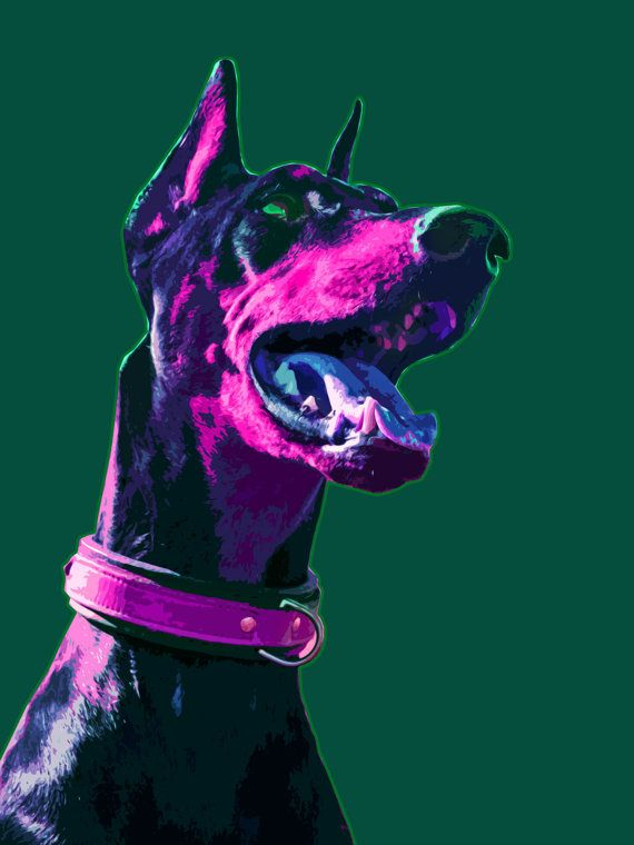 Custom dog Pop art portrait Pop art dog by MelaCustomPortraits