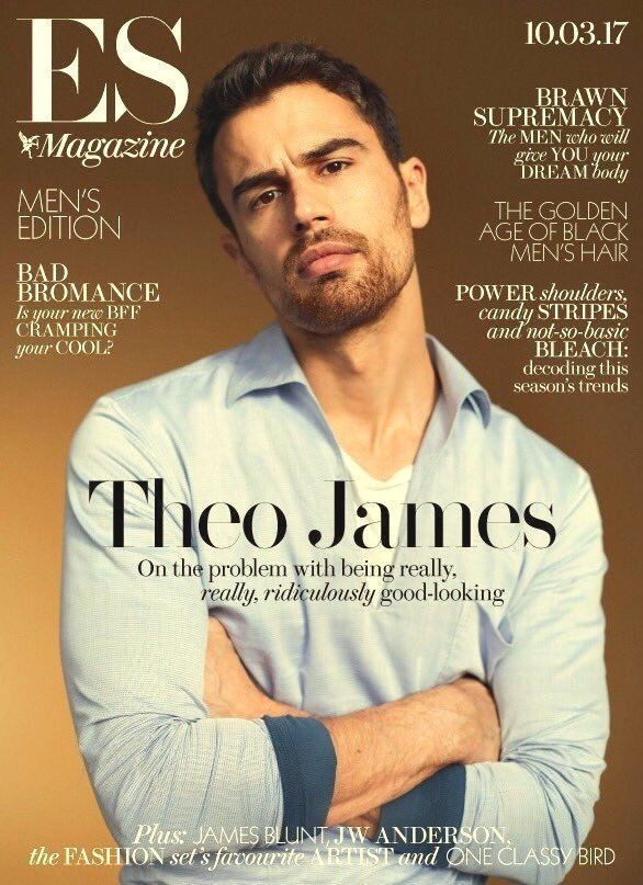 THEO JAMES  ES MAGAZININE 10 MARCH 2017  INTERNATIONAL SHIPPING INCLUDED