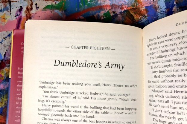 """Dumbledore's Army: now recruiting."" Turning to Harry Potter after this election... 2016. Fuck Trump"