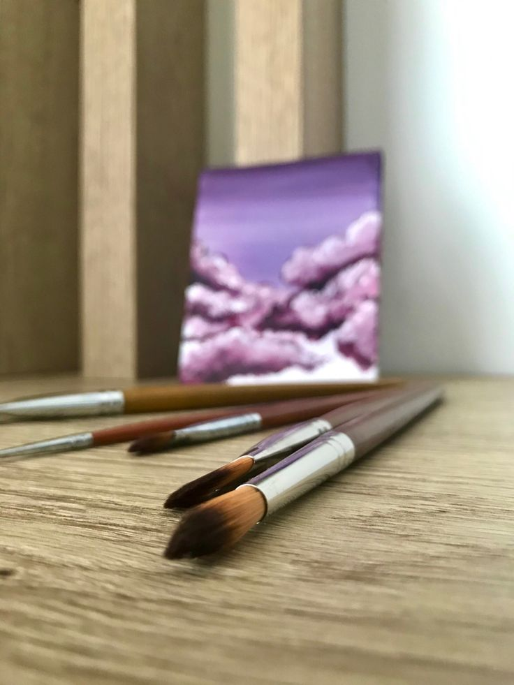 Acrylic paint brushes in 2020 acrylic painting for
