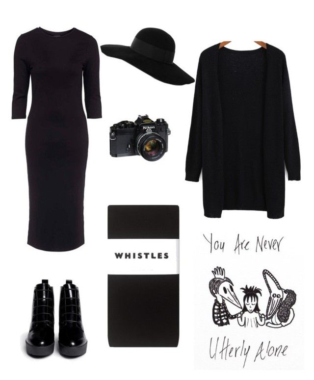 """Lydia Deetz costume (Beetlejuice)"" by fortunecookie07 ❤ liked on Polyvore featuring Topshop, Whistles, Opening Ceremony and Eugenia Kim"
