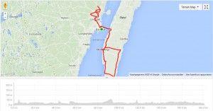 Hieronder het race parcours van de Ironman Kalmar 2014.  Aantal hoogtemeters: 392