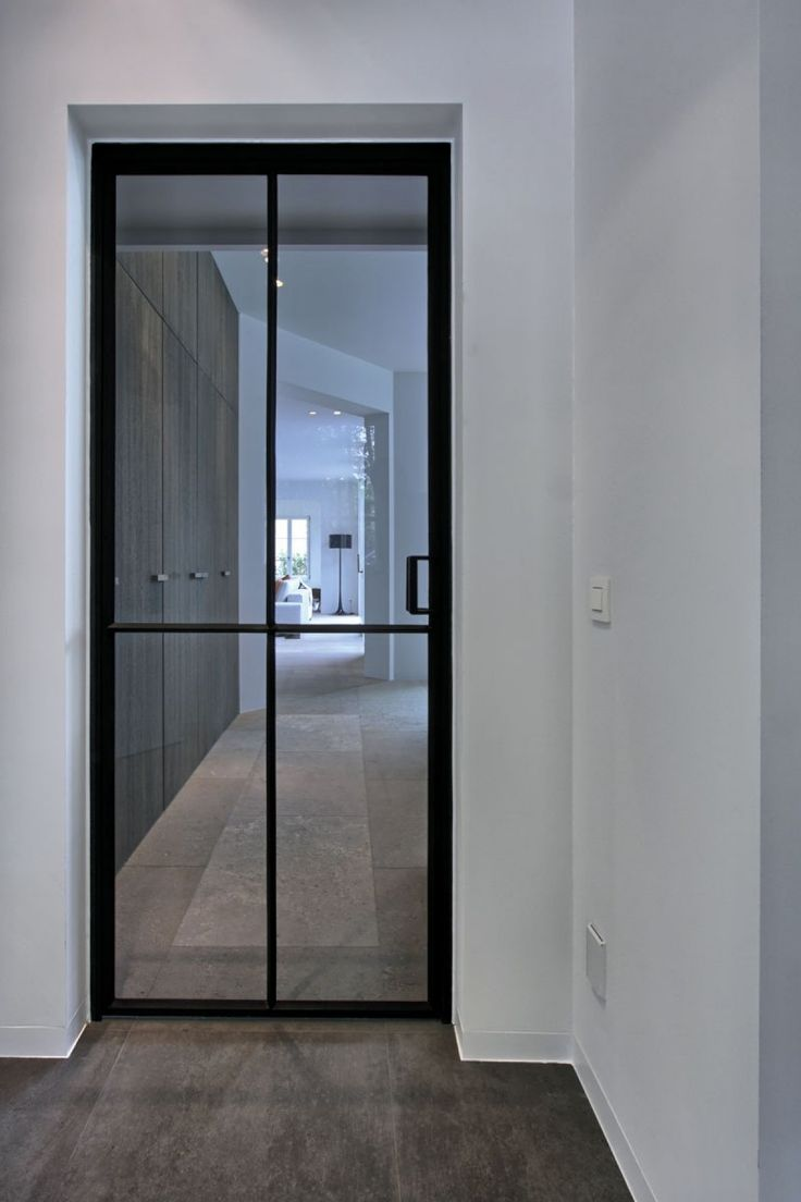 Interior glass doors - Inspiratieboost Een Moderne Look In Een Witte Gang Roomed Steel Doorssteel Windowsblack Doorssliding Doorsinterior Glass