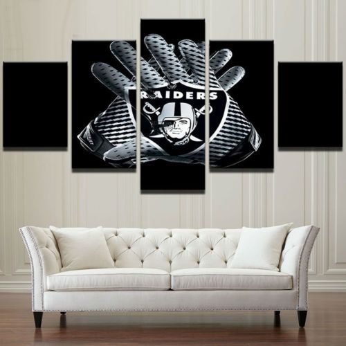 Oakland-Raiders-Football-Team-5-pcs-Painting-Canvas-Wall-Art-Poster-Home-Decor