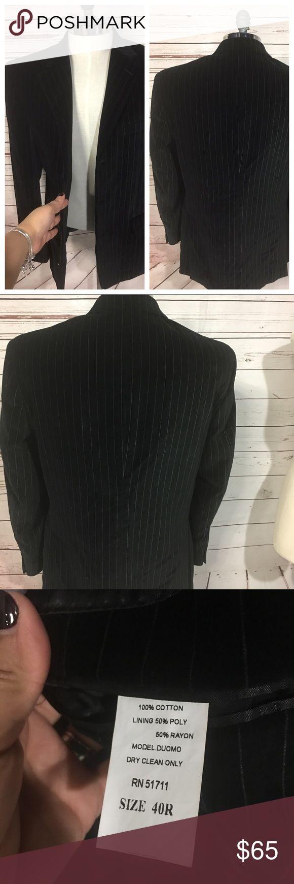 ANDREW FEZZA VELVET SUIT BLAZER SPORT JACKET 40R ANDREW FEZZA MEN BLACK CRUSH VELVET LOOK SUIT BLAZER SPORT COAT JACKET 40R Andrew Fezza Suits & Blazers Sport Coats & Blazers