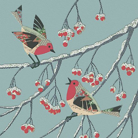 Buy CCA Personalised Patterned Robins Charity Christmas Cards Online at johnlewis.com