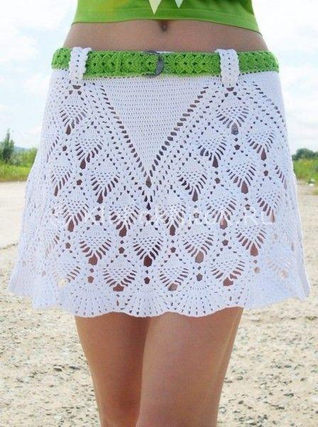 Вязанная юбка пляжная