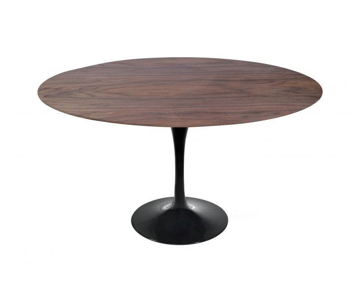 Saarinen Tulip Table - Walnut + Black Base