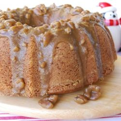 Texas Pecan Cake with Butter Pecan Glaze--made from scratch and includes butternut squash! YUM!