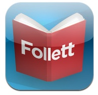 Follett Digital Reader is an ereader app for reading eBooks on your iPad or Android tablet.  Ask your teacher-librarian for information on accessing electronic books from your school library!