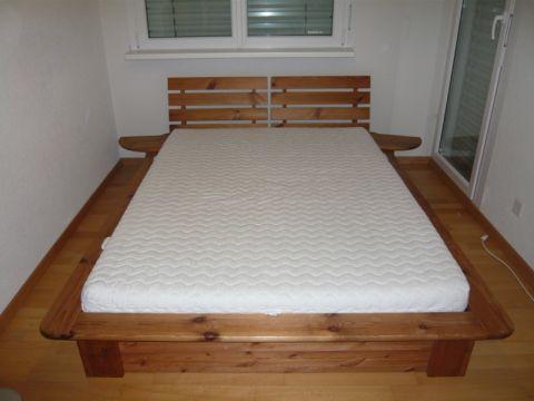 Japán stílusú fenyő ágy., Bútor, Ágy, Meska
