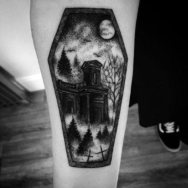 Tattoo Gothic Ideas For Guys Coffin Tattoo Dark Tattoo Gothic Tattoo
