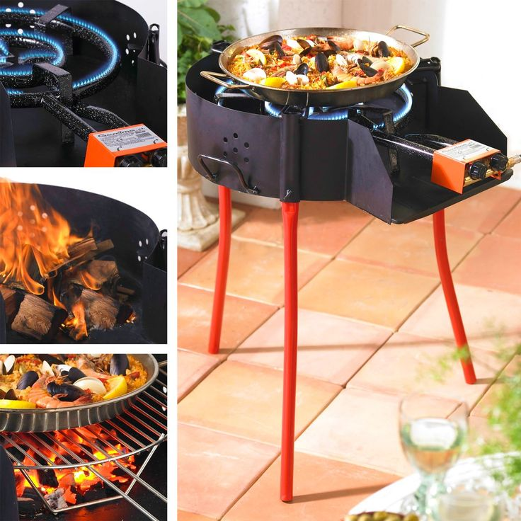 Shop large paella grill system with burner online